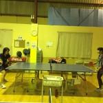 ジュニア卓球練習風景